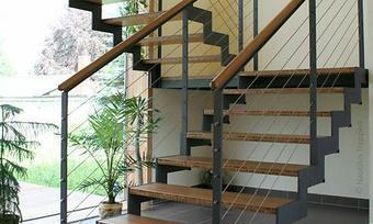 Лестницы на ломаных косоурах