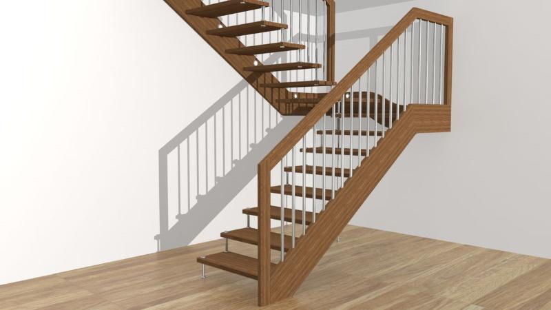 Что необходимо учитывать при подборе металлического каркаса лестницы